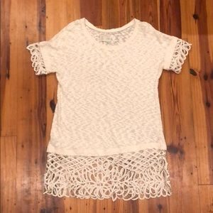 Women's top - off white - large